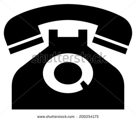 Classic phone icon - stock vector