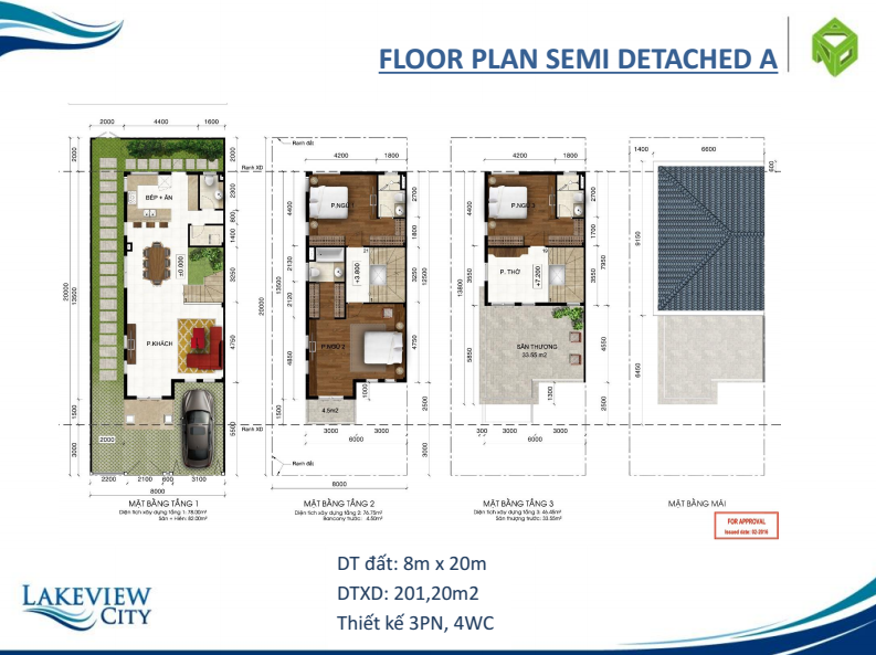 Floor plan semi detached a